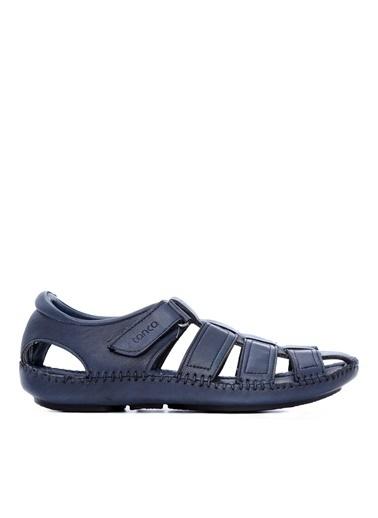 Kemal Tanca Kemal Tanca Erkek Derı Sandalet Sandalet Lacivert